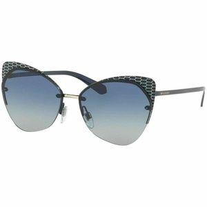 Bvlgari Cat Eye Sunglasses Grey Blue Gradient Lens
